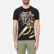 Versace Jeans Men's Foil Print Tiger T-Shirt - Black/Gold