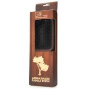 Silk Oil of Morocco Vegan Argan Single Brown Paddle Brush 160g
