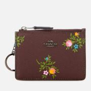 Coach Women's Mini ID Skinny Wallet - Dk/Oxblood Multi