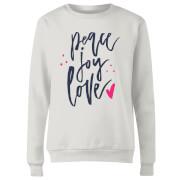 Peace Joy Love Women's Sweatshirt - White
