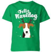 Feliz Navidog Kids' T-Shirt - Kelly Green