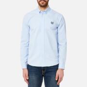 KENZO Men's Tiger Crest Casual Fit Oxford Shirt - Light Blue