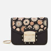 Furla Women's Metropolis Arabesque Mini Cross Body Bag - Black/Orange