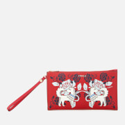 Furla Women's Babylon Extra Large Envelope Clutch Bag - Red