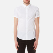 Emporio Armani Men's Small Logo Short Sleeve Shirt - White