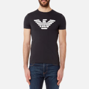 Emporio Armani Men's Aj Chest Logo T-Shirt - Blu Scuro