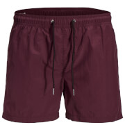 Jack & Jones Men's Originals Sunset Swim Shorts - Burgundy