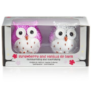 Metallic Owl Lip Balm Duo - Strawberry/Vanilla