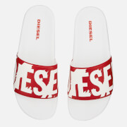 Diesel Men's Sa-Maral Slide Sandals - Formula One/White