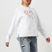 Karl Lagerfeld Women's Karl Love Sweatshirt - White
