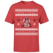 Star Wars Christmas Darth Vader Knit Red T-Shirt