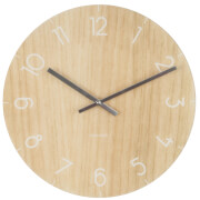 Karlsson Small Glass Wall Clock - Light Wood