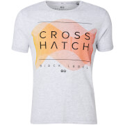 Camiseta Crosshatch Waveform - Hombre - Gris claro