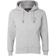 Crosshatch Men's Grampion Zip Through Hoody - Light Grey Marl