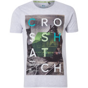 Crosshatch Men's Silverstreak T-Shirt - Light Grey Marl