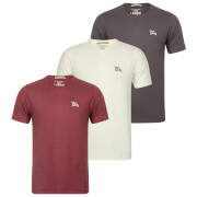 Tokyo Laundry Men's Willwood 3 Pack T-Shirts - White/Nocturne/Slate