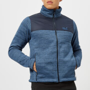 Jack Wolfskin Men's Aquila Fleece Jacket - Ocean Wave