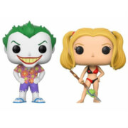 DC Beach Joker and Harley EXC Pop! Vinyl Figure 2-Pack