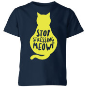 Stop Stressing Meowt Kids' T-Shirt - Navy