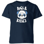 My Little Rascal Pugs & Kisses Kids' T-Shirt - Navy