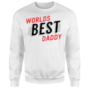 Worlds Best Daddy Sweatshirt - White