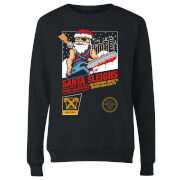 Santa Sleighs - Black Women's Sweatshirt