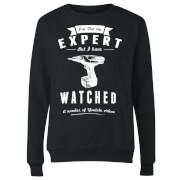 Im not an Expert Women's Sweatshirt - Black
