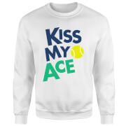 Kiss my Ace Sweatshirt - White