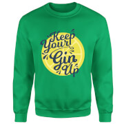 Keep Your Gin Up Sweatshirt - Kelly Green