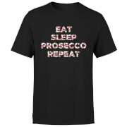 Eat Sleep Prosecco Repeat T-Shirt - Black