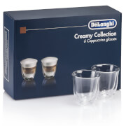 Delonghi Creamy Collection - 6 Cappuccino Glasses
