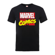 Marvel Comics Main Logo Men's Black T-Shirt