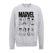 Marvel Multi Heads Men's Grey Sweatshirt