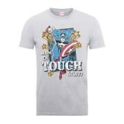 Marvel Comics Captain America Made Of Tough Stuff Men's Grey T-Shirt