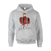 Sweat à Capuche Homme The Man Without Fear - Daredevil - Marvel Comics - Gris