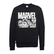 Marvel Comics Action Tiles Männer Sweatshirt - Schwarz