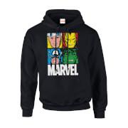 Marvel Multi Colour Main Tile Men's Black Pullover Hoodie