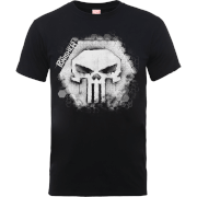 Marvel The Punisher Skull Badge Men's Black T-Shirt