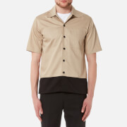 AMI Men's Block Colour Shirt - Beige/Black