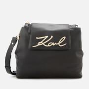 Karl Lagerfeld Women's K/Signature Soft Shoulder Bag - Black