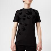 McQ Alexander McQueen Men's All Over Swallow T-Shirt - Darkest Black