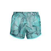 Under Armour Women's Fly By Printed Shorts - Blue