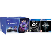Sony PS VR with VR Worlds Mega Starter Bundle with The Elder Scrolls V: Skyrim VR & GT Sport