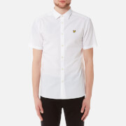 Lyle & Scott Men's Short Sleeve Mini Square Dot Shirt - White