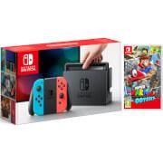 Nintendo Switch Neon and Super Mario Odyssey