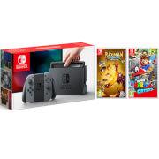 Nintendo Switch Grey with Rayman Legends Definitive Edition & Super Mario Odyssey