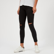 J Brand Women's 8227 Mid Rise Cropped Skinny Jeans - Black Mercy