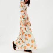 Ganni Women's Tilden Mesh Dress - Vanilla Ice