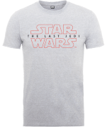 Star Wars The Last Jedi Men's Grey T-Shirt