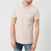 Maison Kitsuné Men's Tricolor Fox Patch Polo Shirt - Pink